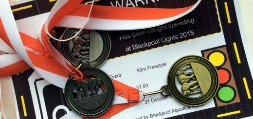 Blackpool Lights speeding ticket and medals