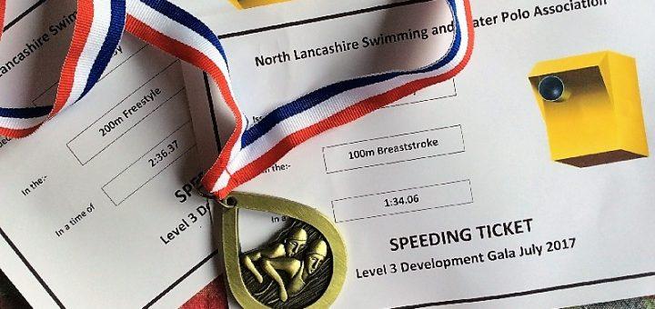 NL Development Meet speeding tickets and medal